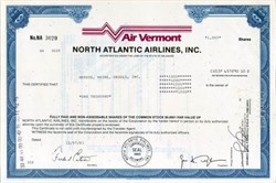Air Vermont North Atlantic Airlines, Inc.