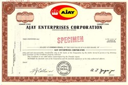 Ajay Enterprises Corporation  (Became Roadmaster Industries, Inc ) - Wisconsin