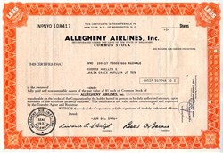 Allegheny Airlines, Inc  ( Now U.S. Air) - Delaware 1976