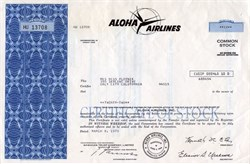 Aloha Airlines, Inc. (Operations ceased on March 31, 2008) - Hawaii 1973