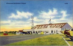 Allentown-Bethlehem Airport Post Card - Pennsylvania 1940's