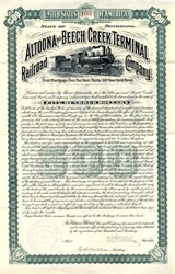 Altoona and Beech Creek Terminal Railroad Company - Pennsylvania 1901