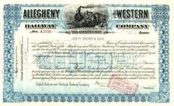 Allegheny and Western Railway Company - Pennsylvania 1936