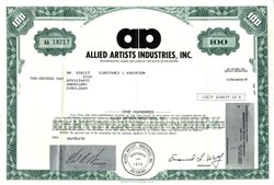 Allied Artists Industries, Inc.(formerly Monogram Pictures Corporation) - Delaware, 1978
