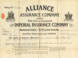 Alliance Assurance Company - England 1905