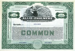 Allis - Chalmers Manufacturing Company ( Farm Tractors and Equipment) RARE Specimen - Delaware 1912