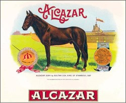 Alcazar Race Horse Cigar Label
