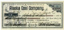 Alaska Coal Company (Kachemak Bay, Alaska) RARE - Oakland, California 1891