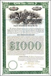 Alcatraz Company 1899 $1,000 Gold Bond - San Francisco, California