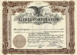 Alcres Corporation ( Cuba Sugar Rionda Family ) - New Jersey 1953