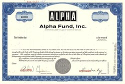 Alpha Fund, Inc. - Maryland 1968