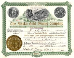 Alaska Gold Mining Company -  Berners Bay, Alaska 1898