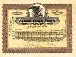 Alexander Hamilton Institute - New Jersey 1927