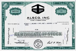 Alsco, Inc. - Delaware 1963