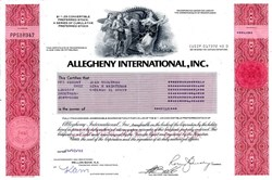 Allegheny International, Inc. - Pennsylvania 1983