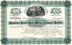 Algonquin Larder Lake Mining Company, Limited - Ontario, Canada 1907