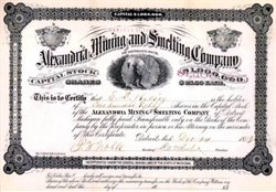 Alexandria Mining and Smelting Company - Detroit, Michigan 1883