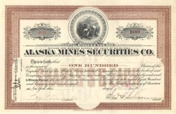 Alaska Mines Securities Co. 1909