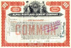 Alpha Portland Cement Company 1925 - New Jersey