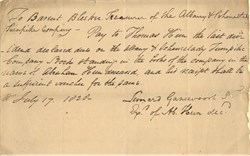 Albany & Schenectady Turnpike Company Stock Dividend Assignment  signed by Leonard Gansevoort Jr - New York 1826