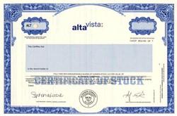 Alta Vista Internet Search Engine Company  - Delaware