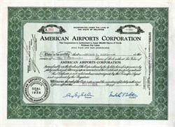 American Airports Corporation issued to Stedman Shumway Hank - 1929
