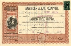 American Alkali Company (Indian Warrior) - New Jersey 1899
