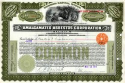 Amalgamated Asbestos Corporation (Native American Vignette) - 1911