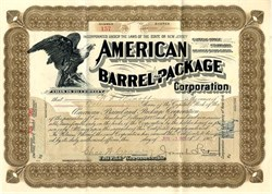 American Barrel and Package Corporation - New Jersey 1903