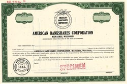 American Bankshares Corporation - Wisconsin 1970