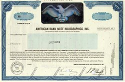 American Bank Note Holographics, Inc. - Holograph SPECIMEN