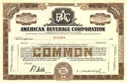 American Beverage Corporation 1934 - Delaware