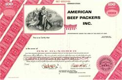 American Beef Packers Inc. ( Nice vignette of woman)