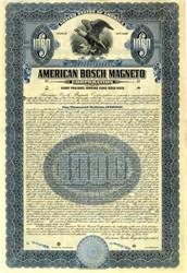 American Bosch Magneto ( Now Robert Bosch GmbH  - Bosch Group )  - New York 1921