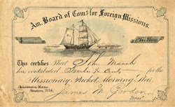 American Board of Commissions for Foreign Missions - 1856