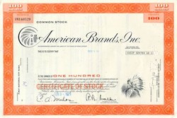 American Brands (Fortune Brands) Stock Certificate - Indian Vignette