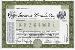 American Brands, Inc. (Specimen)  - Delaware 1989