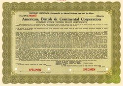 American, British & Continental Corporation