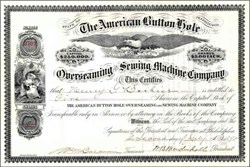 American Button Hole Overseaming and Sewing Machine Company - Pennsylvania 1897