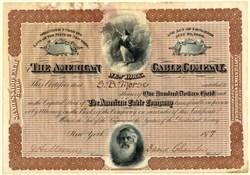 American Cable Company (Samuel F. B. Morse Vignette)  - New York 1877