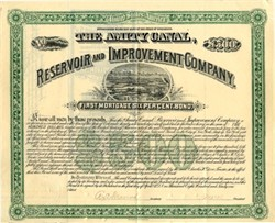Amity Canal Reservoir and Improvement Company signed twice by Charles H. Dow (Dow Jones) - Colorado 1891