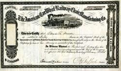 American Car Wheel Railway Chair Manufacturing Co. - 1865