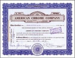 American Chrome Company