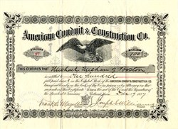 American Conduit & Construction Coporation - Boston 1887