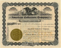American Collectors Company 1898 ( Scott Stamp Company ) - Jersey City, New Jersey 1902