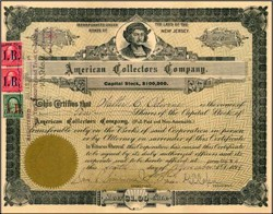 American Collectors Company 1898 ( Scott Stamp Company ) - New Jersey 1898