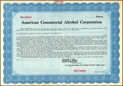 American Commercial Alcohol Corporation (American Distilling Company) - 1928