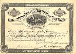American Copper Mining Company - New York 1887