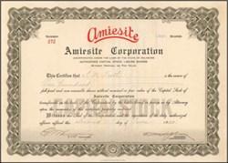 Amiesite Corporation 1930