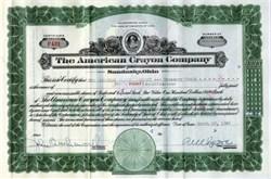 American Crayon Company (Yellowstone Old Faithful Vignette) - Sandusky, Ohio